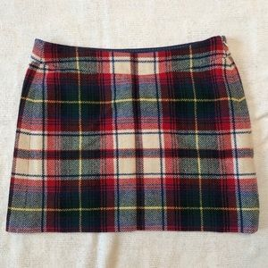 Plaid J. crew Mini Skirt